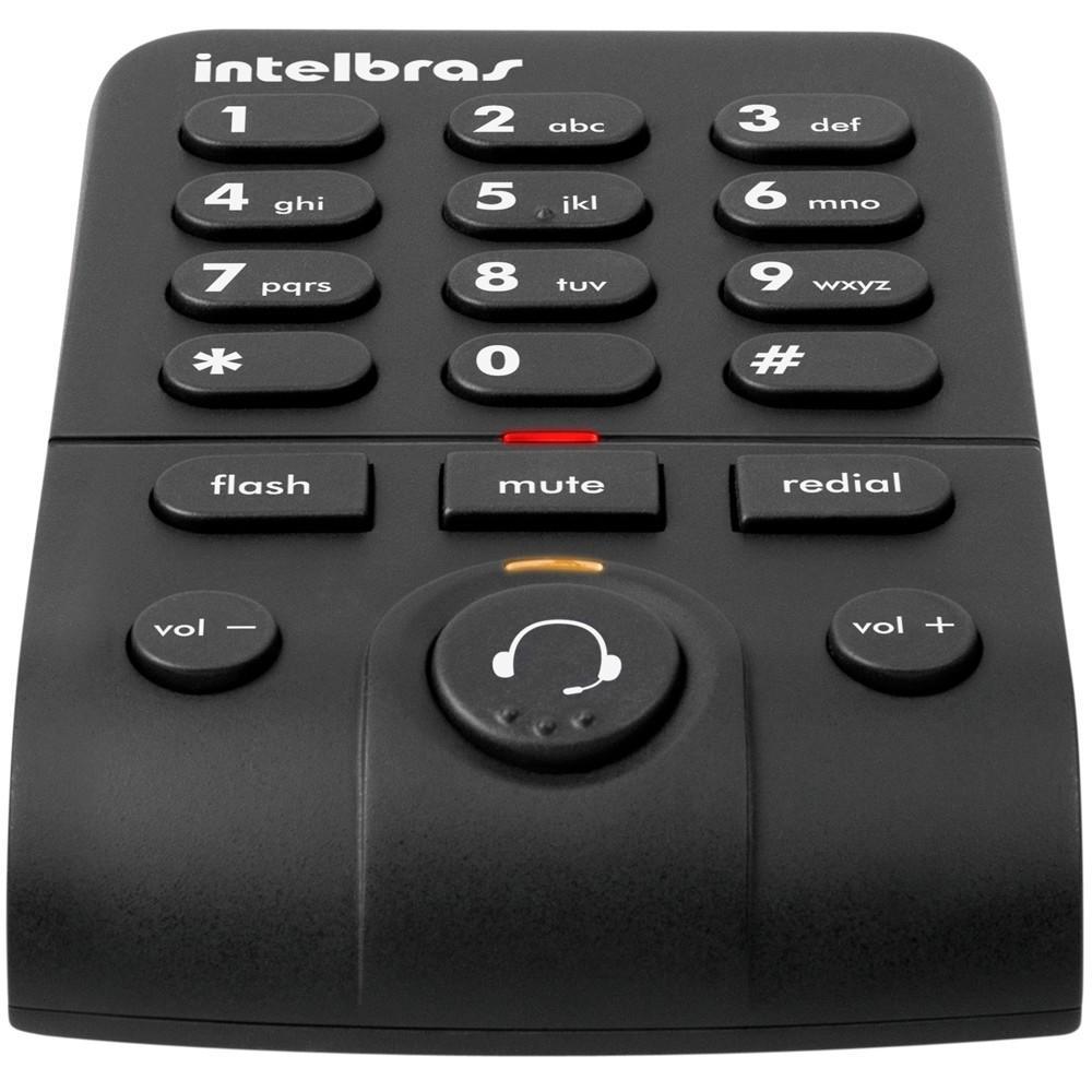 Telefone Intelbras Headset com Base Discadora HSB50