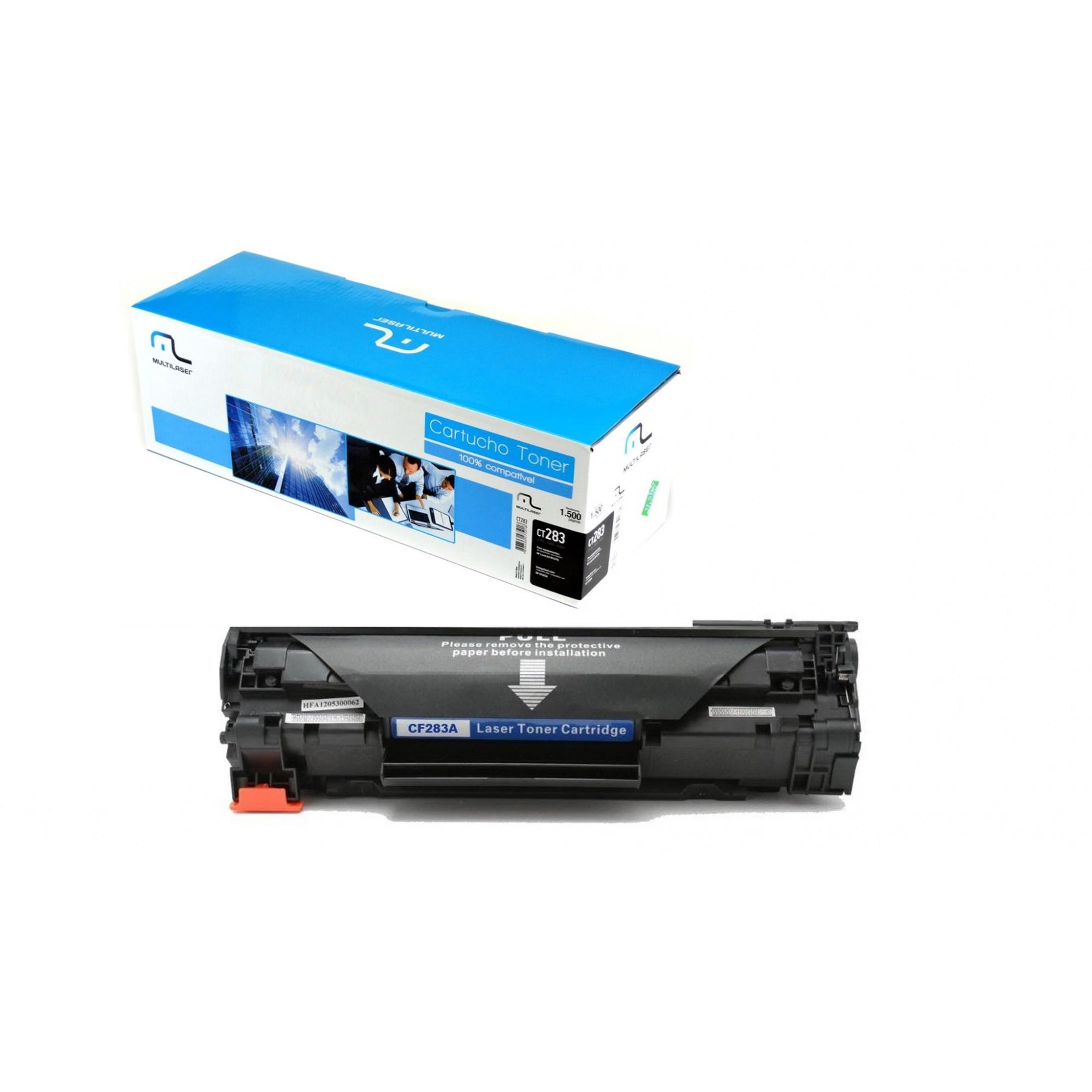 Toner Multilaser para HP, Preto - CT283