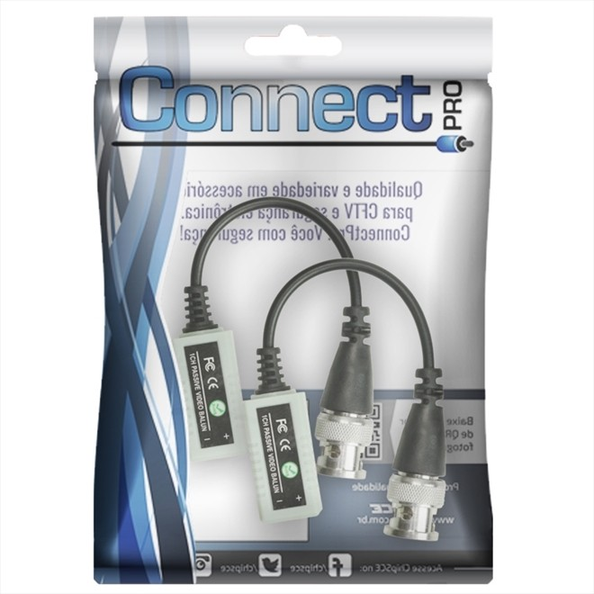 Vídeo Balun Connect Pro HD Hibrido - Canal Passivo