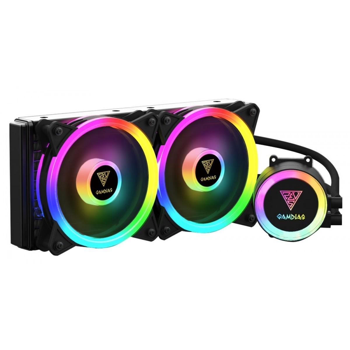 Water Cooler Gamdias Chione M2-240 Lite, ARGB, 240mm, Intel-AMD