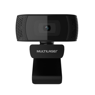 Webcam Multilaser Full HD, 1080P, 4K, Microfone, USB Plug and Play, Preto - WC050