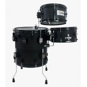 "BATERIA COMPACTA PUB THE VERTICAL DRUM OAK BLACK - COMPOSTA POR SURDO/BUMBO 16"", CAIXA 12"" E TOM 10"" PELE COATED PREMIUM. FULL"