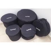 Kit Bag's Extra-Luxo para Bateria com 5 Pçs (T8T10T12S14B18)