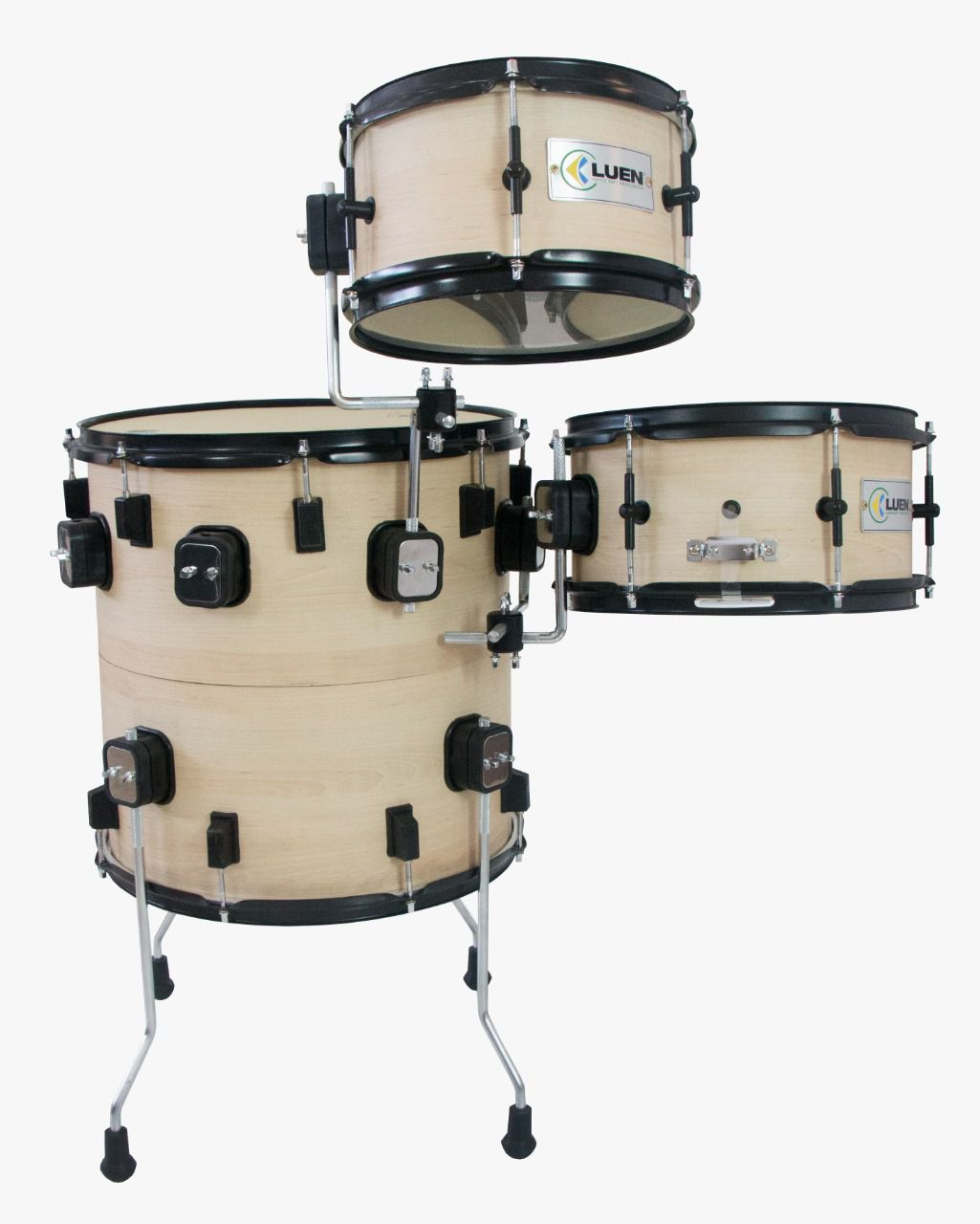 "BATERIA COMPACTA PUB THE VERTICAL DRUM OAK NATURAL - COMPOSTA POR SURDO/BUMBO 16"". CAIXA 12"" E TOM 10"" PELE VINTAGE JAZZ"