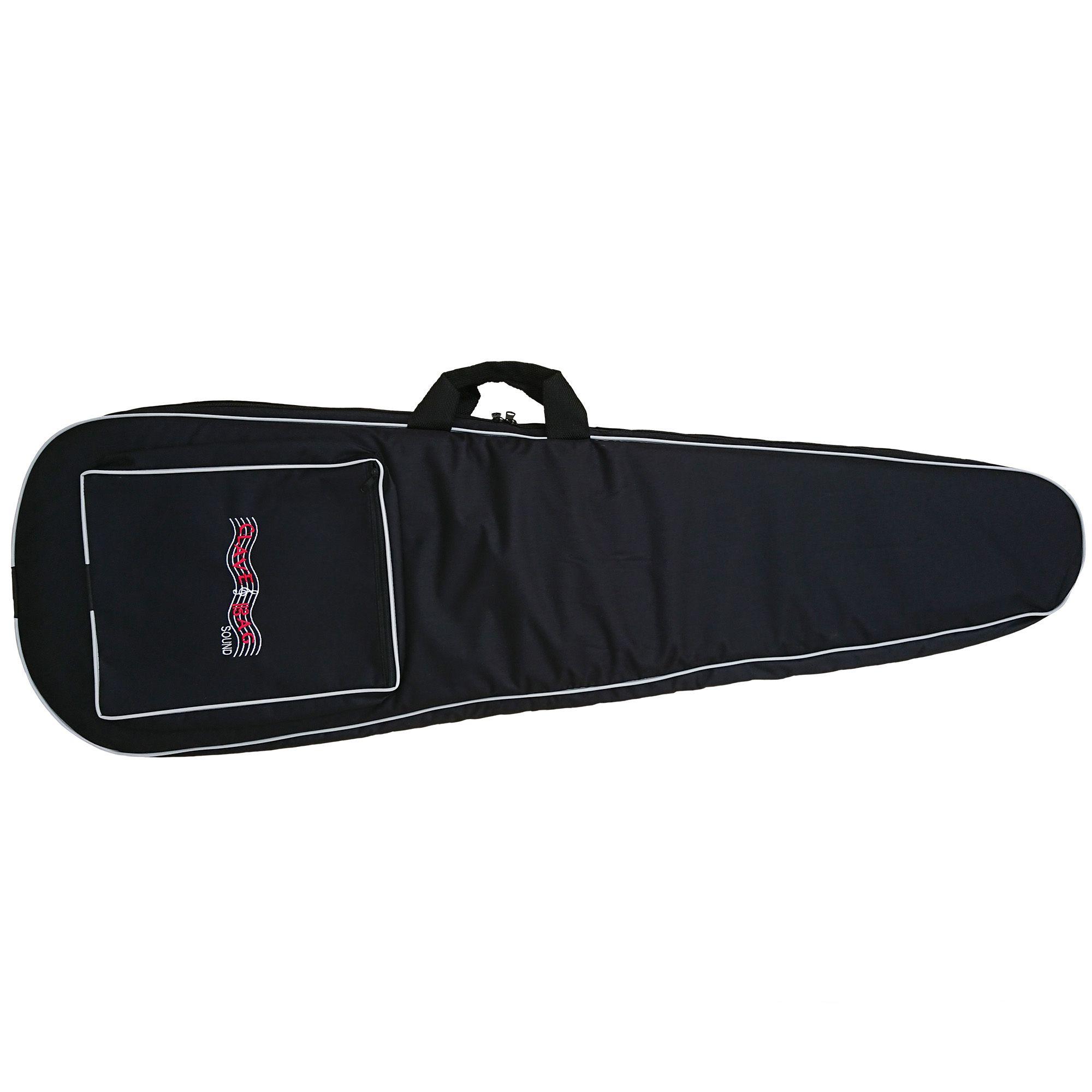 Capa Bag para Guitarra Semi Case Gold CLAVE & BAG. Totalmente acolchoada, alça de mão e de mochila. EX 507