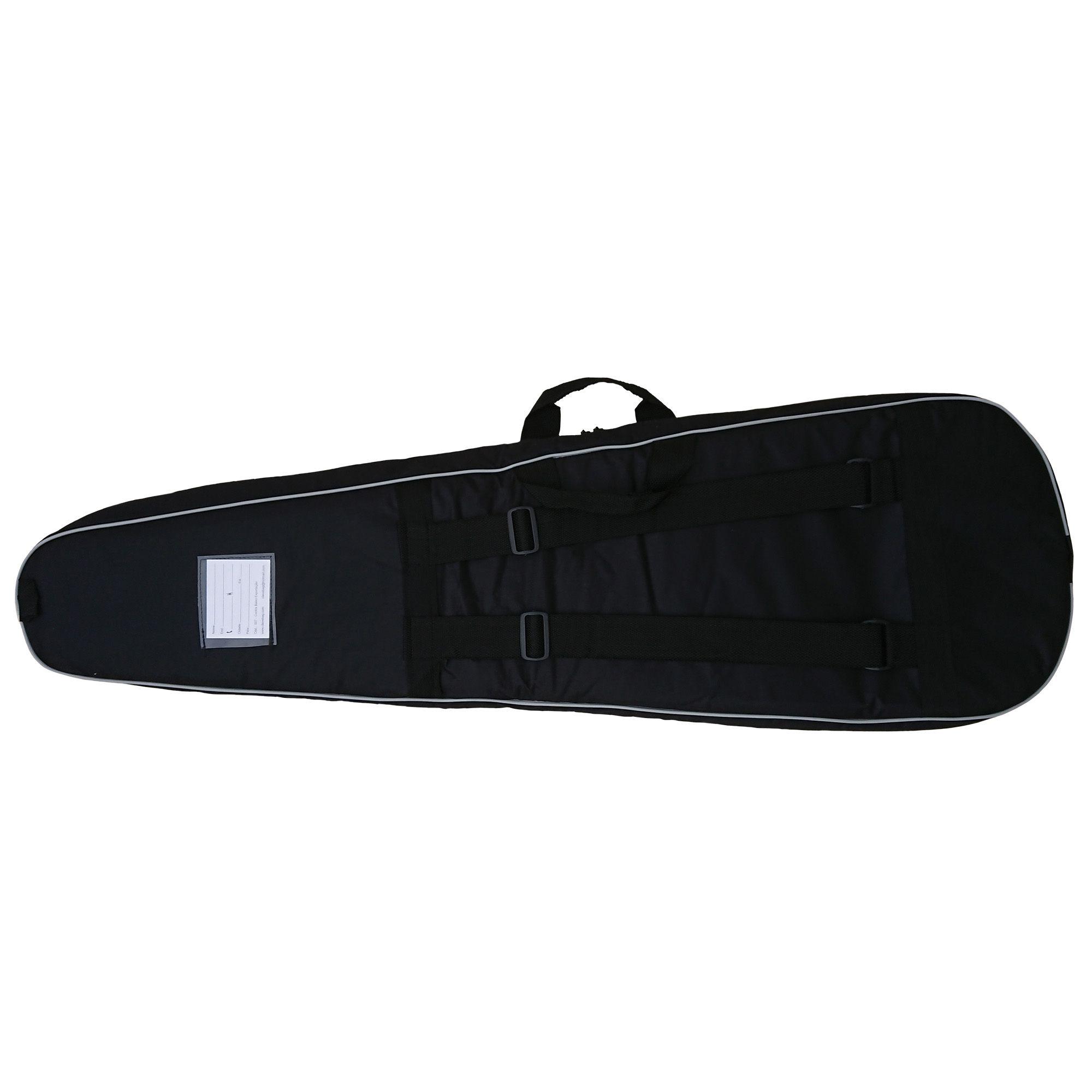 Capa Bag para Guitarra Semi Case Gold CLAVE & BAG. Totalmente acolchoada, alça de mão e de mochila. EX 507  - ROOSTERMUSIC
