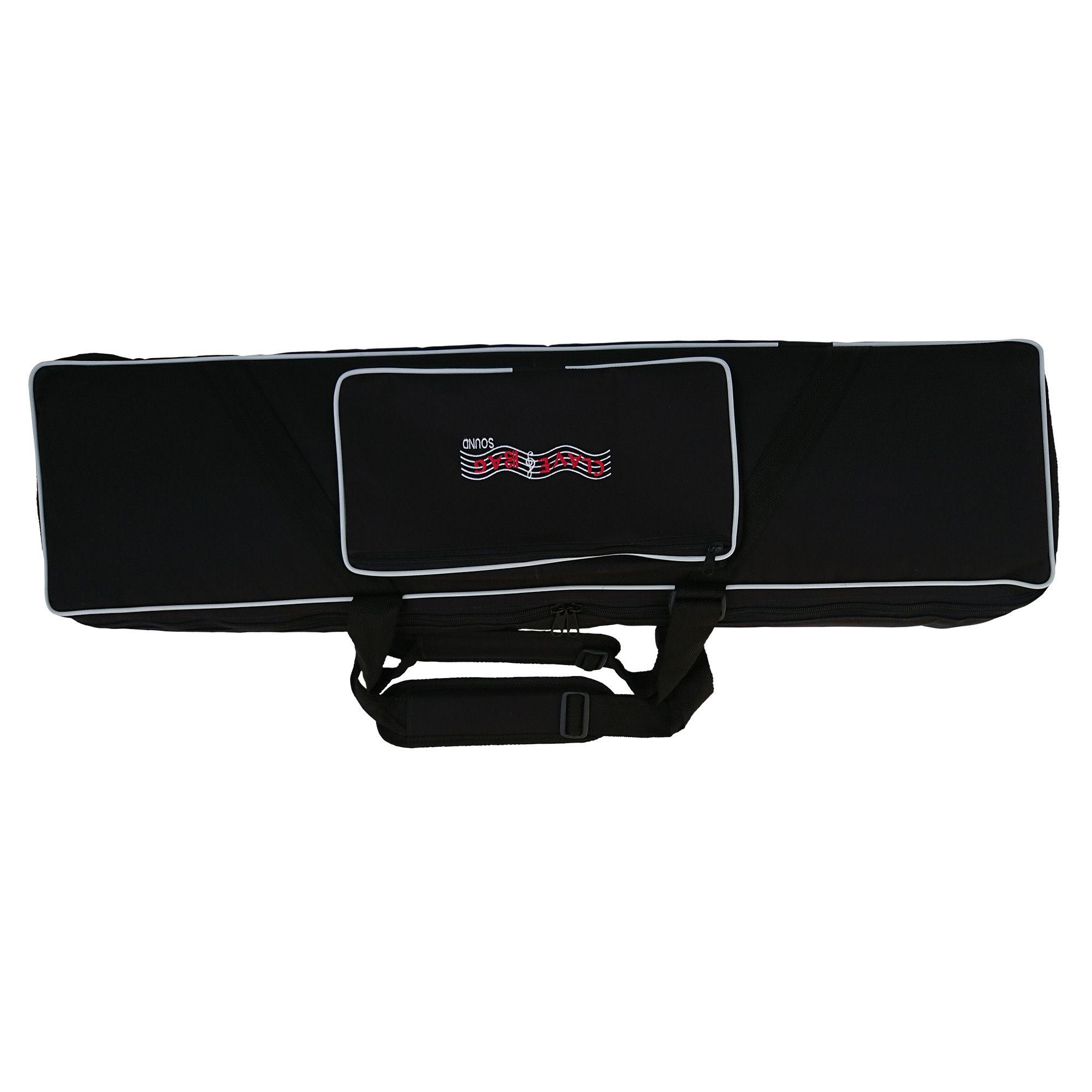 Capa/Bag para Teclado modelo semi-case para XPS-30, Juno-DS61, Roland Bk-3  e outros (103x30x10)