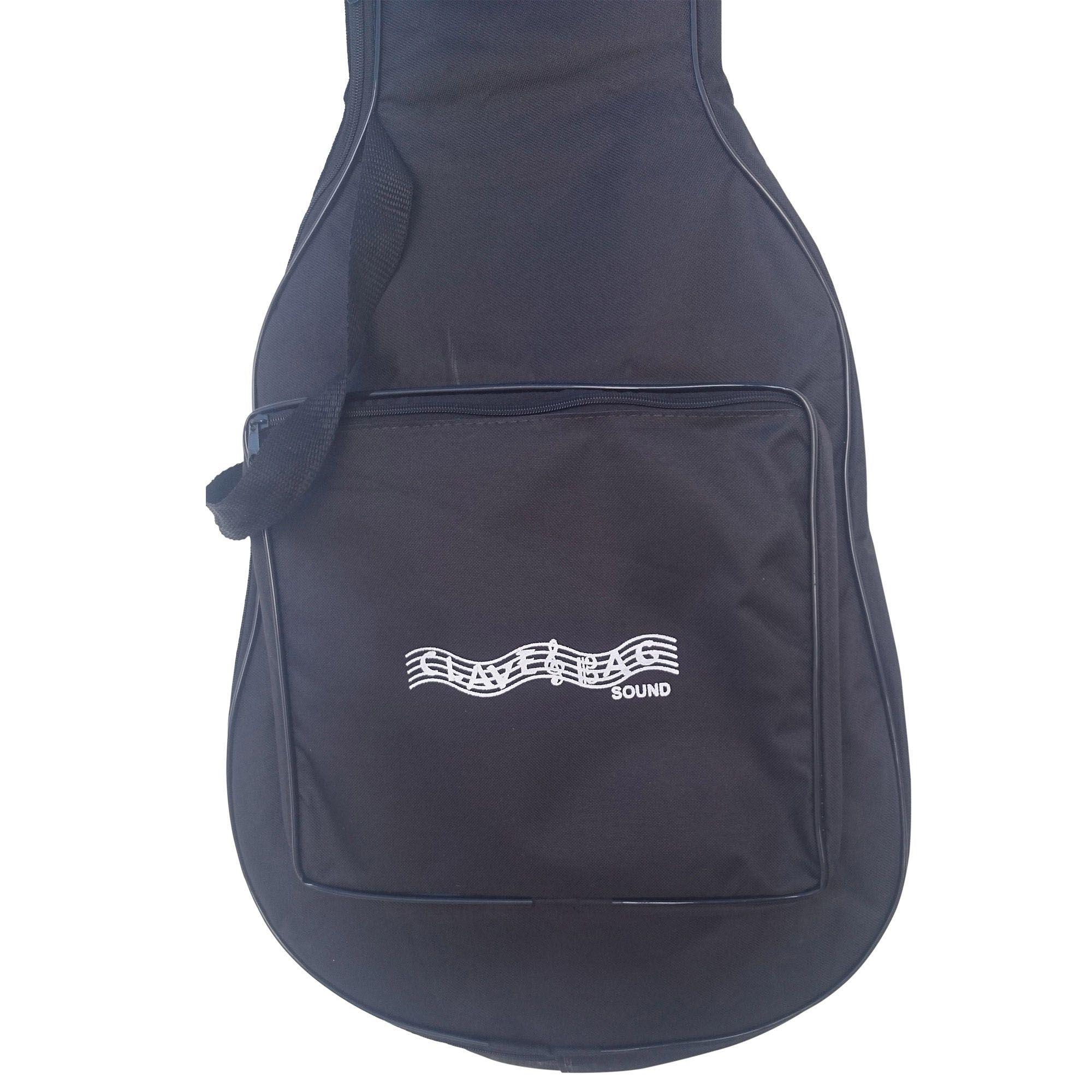 Capa Bag Para Violão Clássico Luxo CLAVE & BAG. Acolchoada, alça de mão e de mochila. LU 502