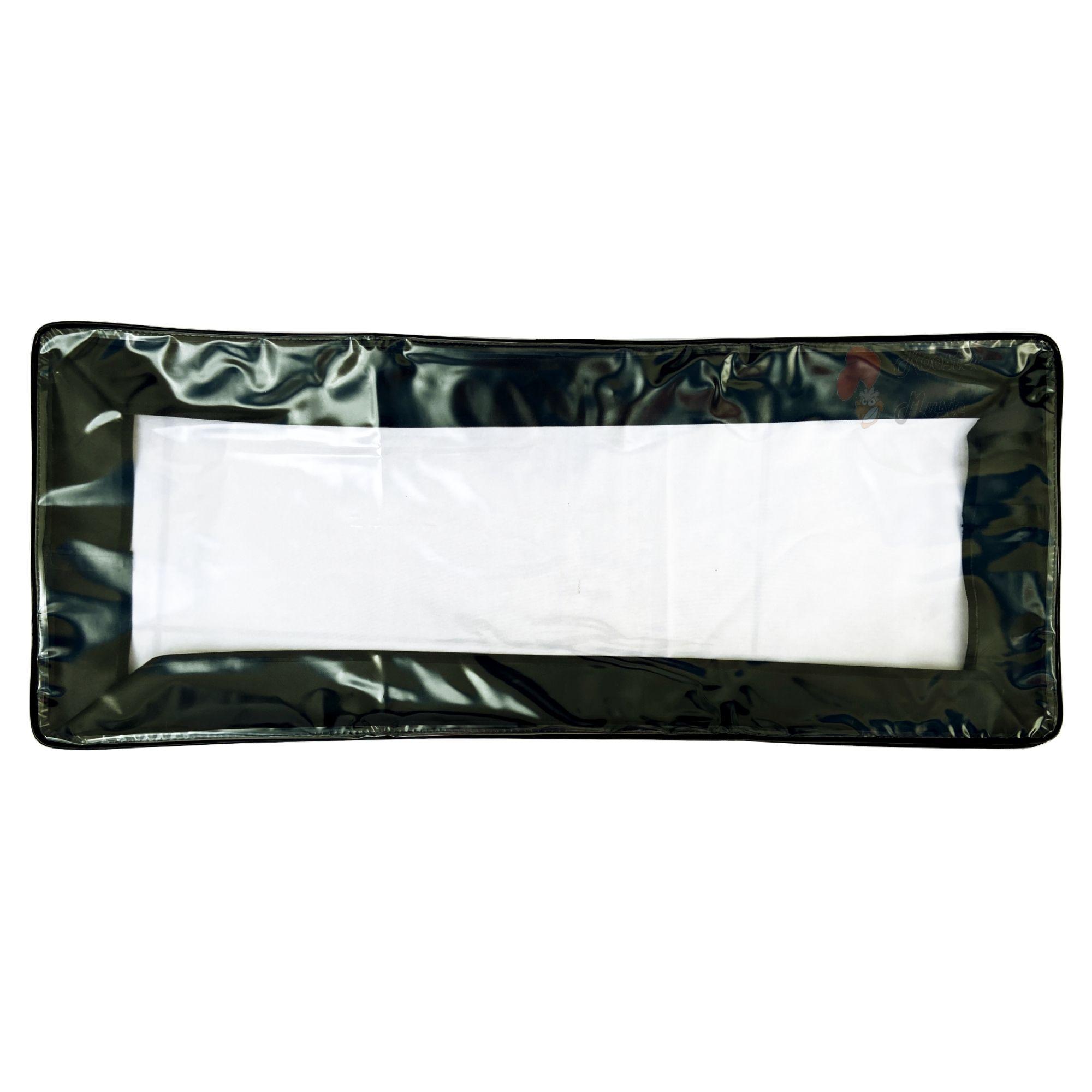 Capa Expositora Cristal Para Teclado TC-261, Proteção contra poeiras, Clave & Bag.