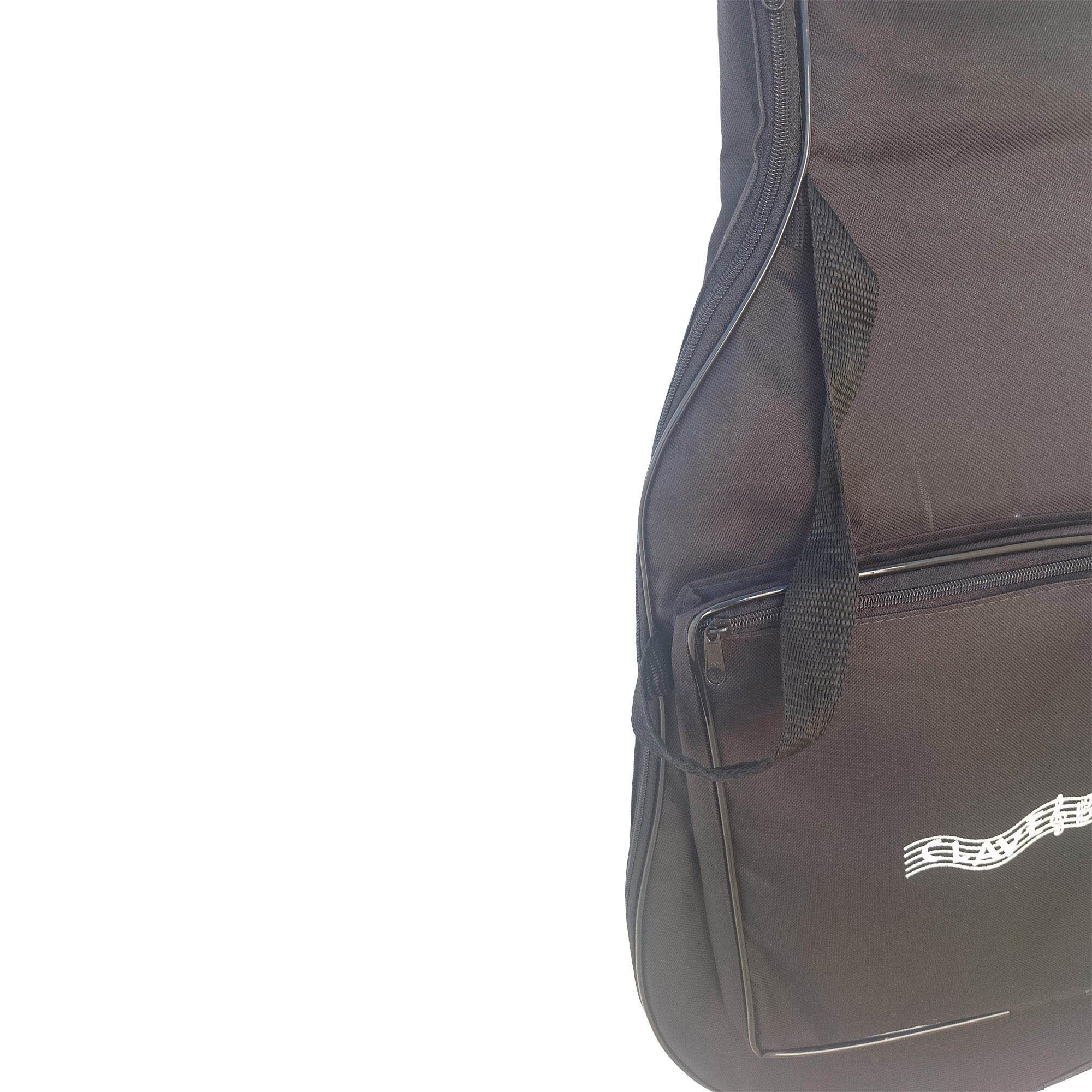 Capa para Violão 12 Cordas Luxo CLAVE & BAG. Acolchoada, alça de mão e de mochila. LU 505  - ROOSTERMUSIC
