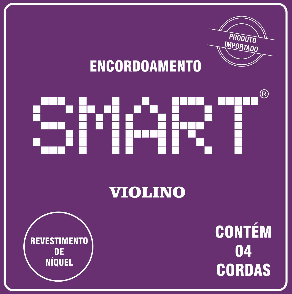 ENCORDOAMENTO PARA VIOLINO, CONJUNTO DE 4 CORDAS, SMART