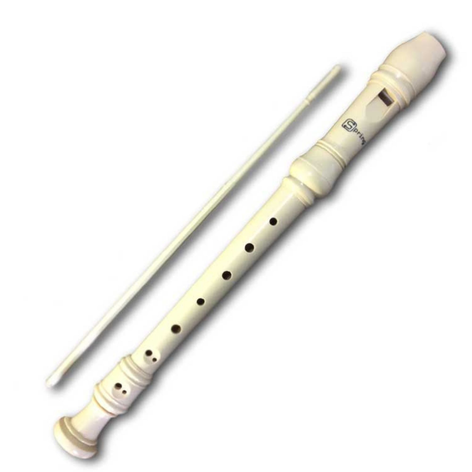 Flauta Doce Spring, modelos SG-FLB (Barroca) ou SG-FLG (Germânica)  com capa e limpador.
