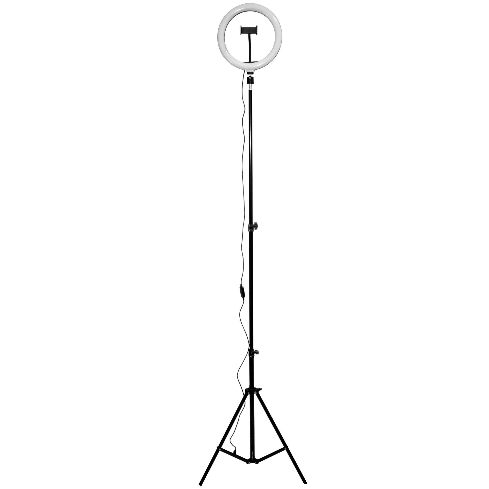 ILUMINADOR RING LIGHT SP-26 LED, 26 CM, 10 POLEGADAS, TRIPÉ 2.1 METROS, SPECTRUM