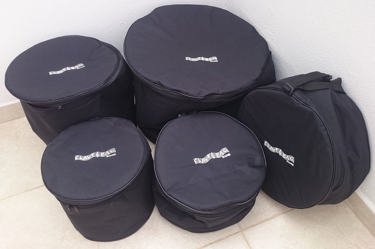Kit Bag Extra-Luxo Bateria 8 Pçs 8 10 12 14 14 22 PF120 PD  - ROOSTERMUSIC