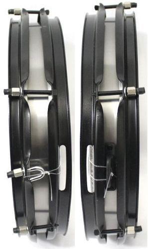 "kit Caixa 14"" x 3"" Tarol LUEN com talabarte 2 ganchos branco CLAVE & BAG"