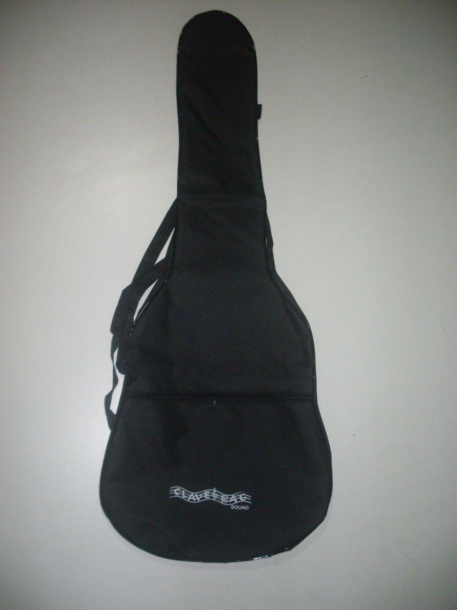 kit com 3 capas para violão folk comum