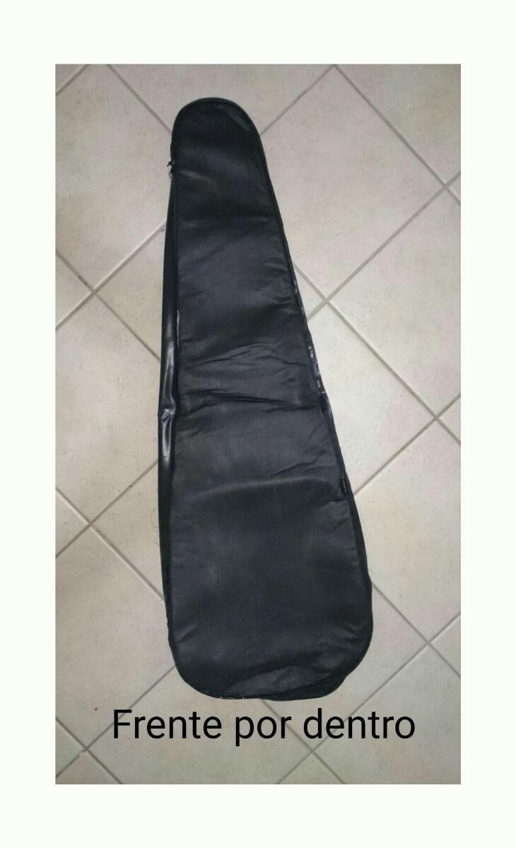 Kit com 5 capas para violão clássico, modelo comum, 2 capas para violão folk, modelo comum e 1 para guitarra modelo luxo