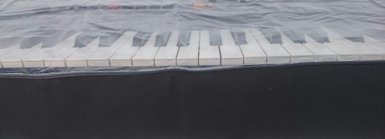 kit com Semi-case para teclado 5/8 + capa expositora cristal