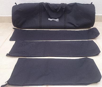 Kit de Bag's Extra-Luxo para Bateria com 6 Pçs (T10T12C14x18S14B22PF). Totalmente acolchoado.