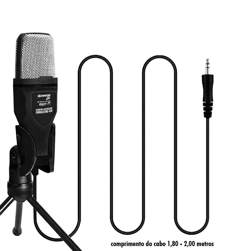 MICROFONE CONDENSADOR PROFISSIONAL SOUNDCASTING 650 DA SOUNDVOICE LITE