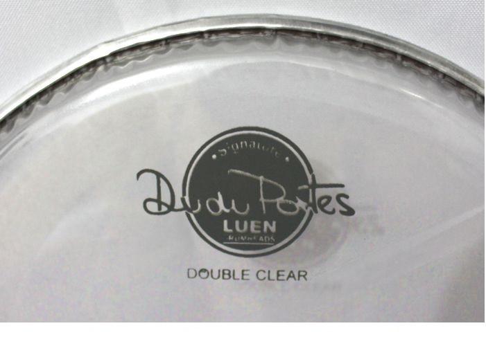 Pele De Surdo 18 Double Clear Dudu Portes. Bateria com som de qualidade.