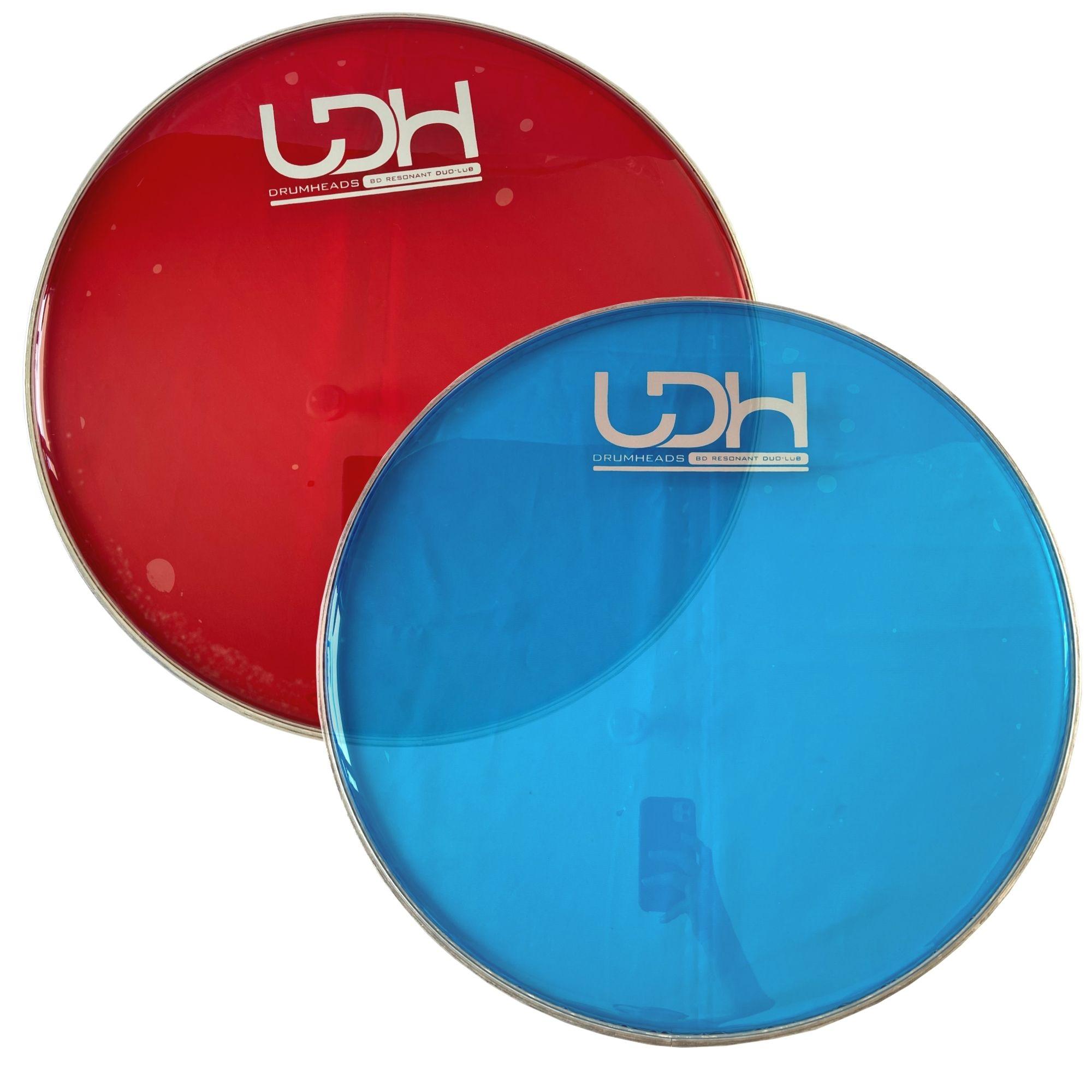 "Pele Hidráulica Duo Lub Clear Luen Drumheads LDH 08"" para Bateria."