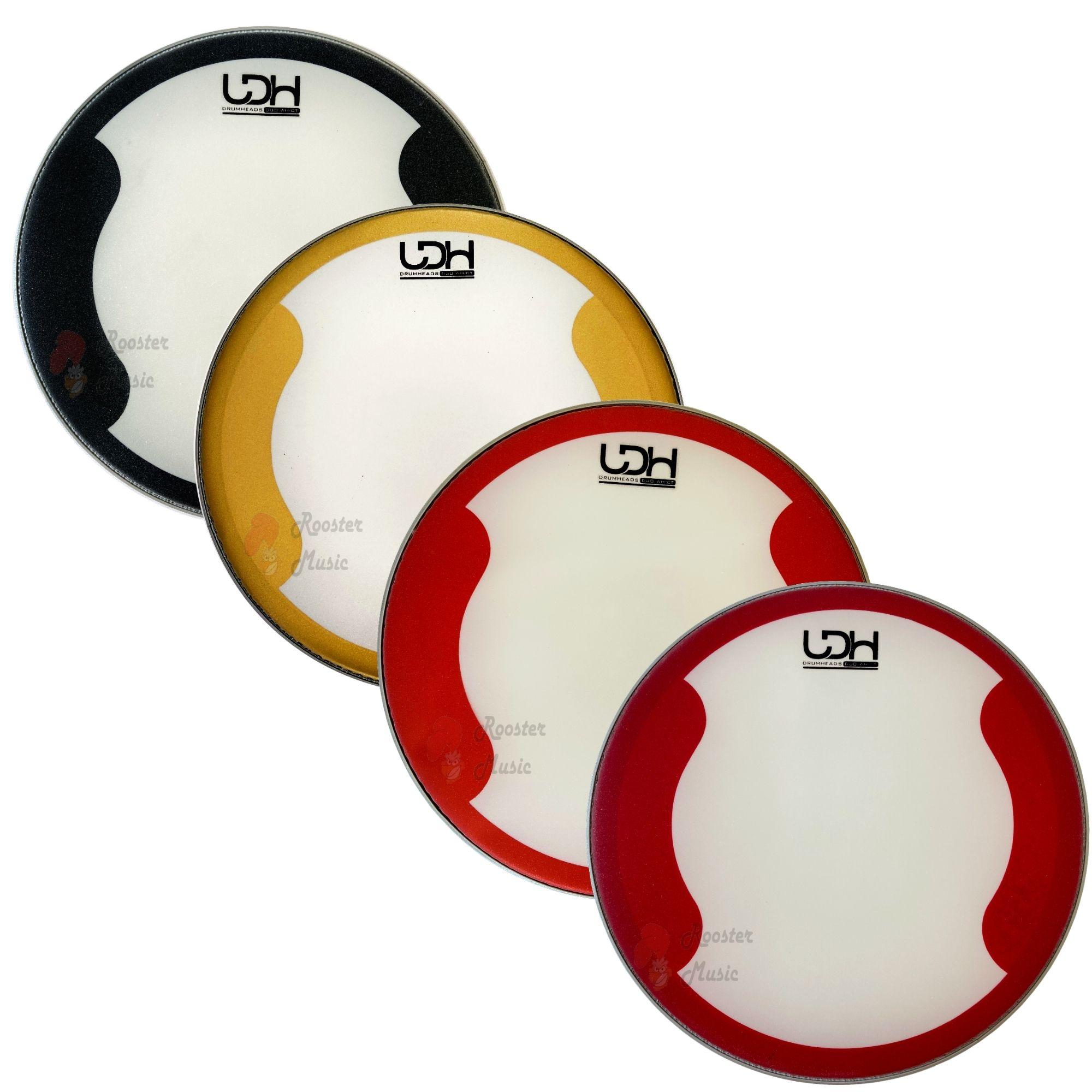 "Pele Porosa Brilhosa Duo WH Coated CT Luen Drumheads LDH 14"" para Bateria."