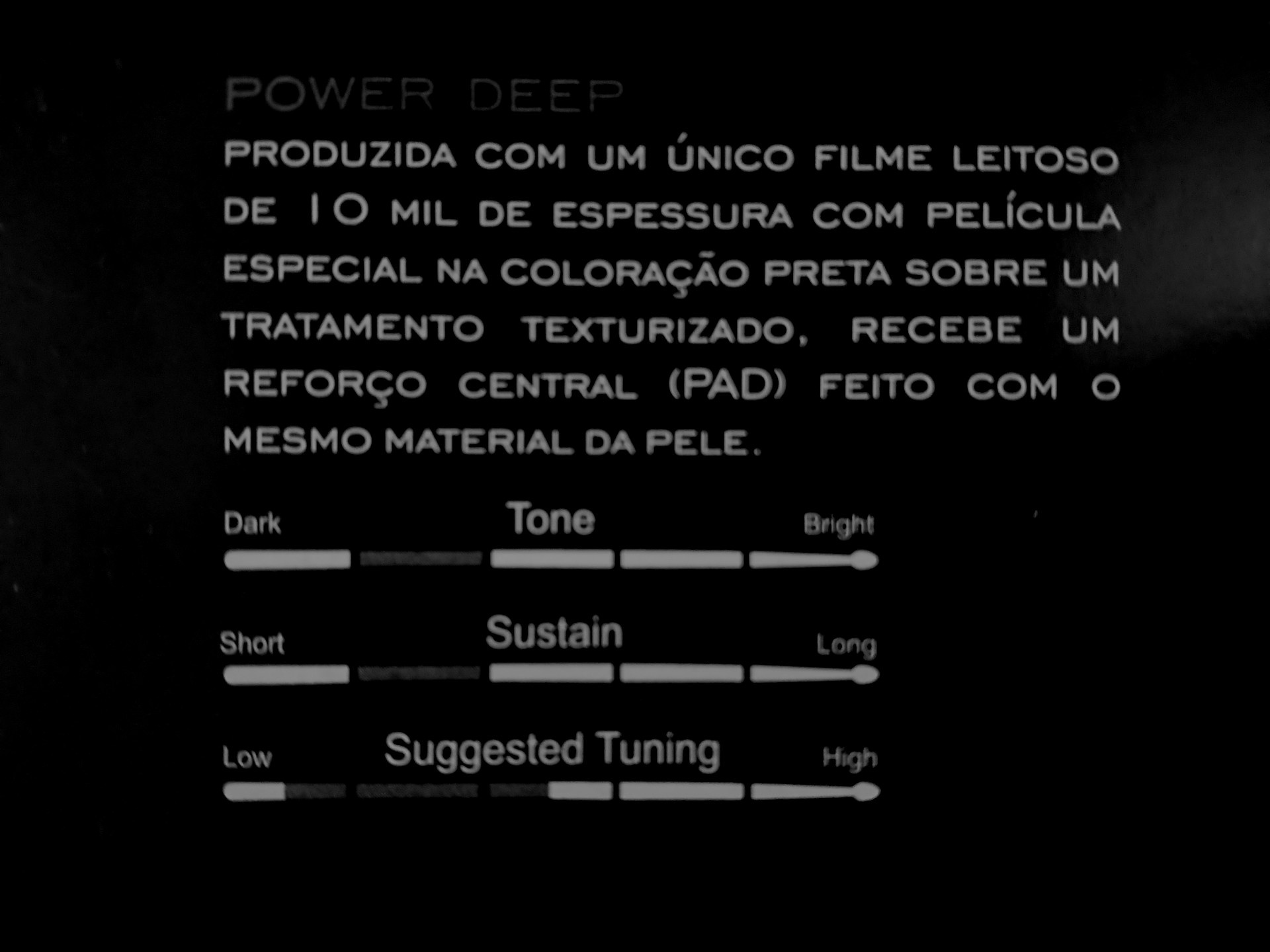 "Pele texturizada POWER DEEP C/ PAD 13"" Dudu Portes, LUEN."