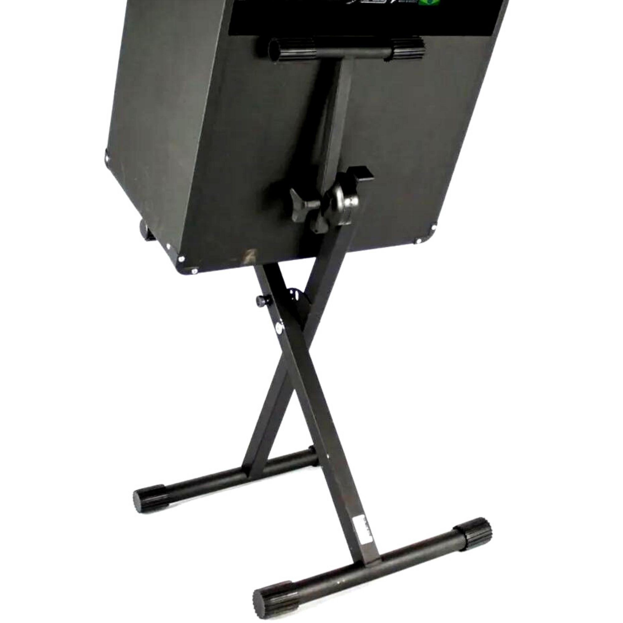 """Suporte Pedestal  em """"X"""" para um Amplificador, Ibox."""