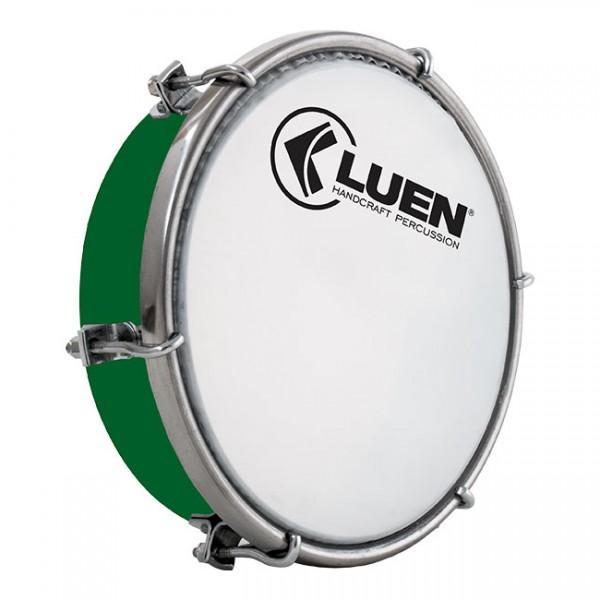 Tamborim Verde 06 Luen, com chave de afinação. Tamborim para samba e outros.