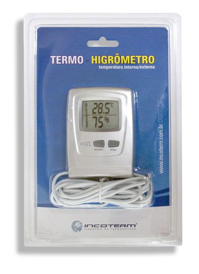 Termo-Higrômetro Digital Temperaturas e Umidades Internas 7666.02.0.00 - INCOTERM  - Shopping Prosaúde