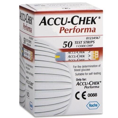 Fitas de Glicemia Accu-Check Performa caixa com 50 unidades - Roche  - Shopping Prosaúde