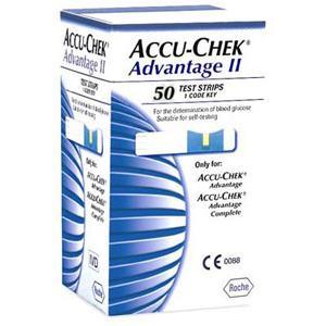 Fitas de Glicemia Accu-Check Advantage II caixa com 50 unidades - Roche  - Shopping Prosaúde