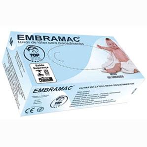 Luva de Procedimento M Caixa com 100 Unidades - EMBRAMAC  - Shopping Prosaúde