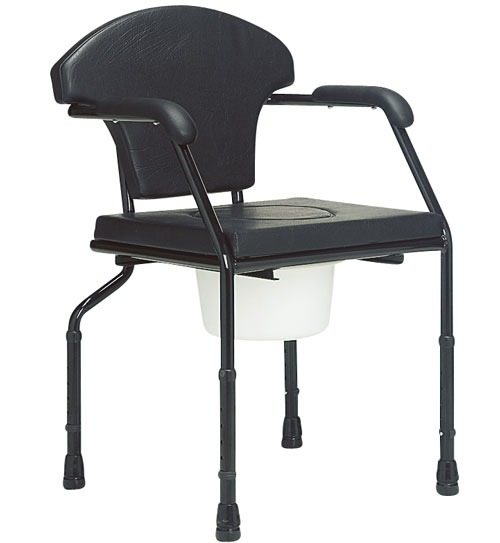 Cadeira de Rodas Higiênica Estofada 52 cm - BAXMANN E JAGUARIBE  - Shopping Prosaúde
