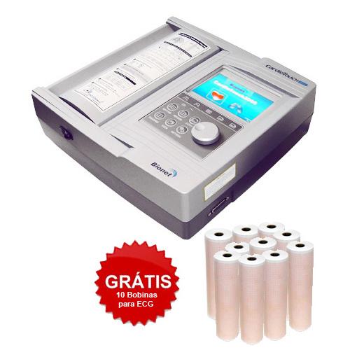 Eletrocardiógrafo ECG  12 Canais CardioTouch 3000 , interpretativo 12 canais + Modulo Espirometria + 10 bobinas - Bionet - Macrosul  - Shopping Prosaúde