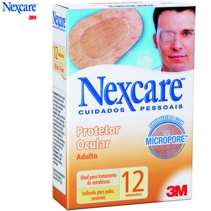 Protetor Ocular Adulto Opticlude ( Cx c/ 12 unds.)  Nexcare 1539 - 3M  - SP