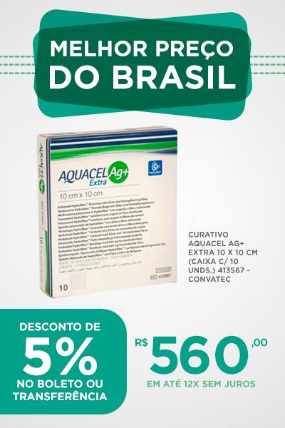 aquacel ag+ extra 10 x 10 kit com 10 unidades