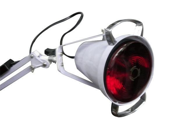 Luminária (Foco) com Lâmpada de Infravermelho - 1 Braço - Estek  - Shopping Prosaúde