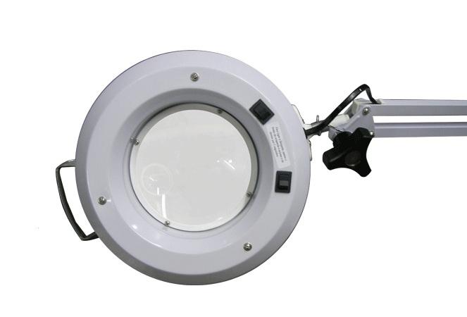 Luminária com Lente - Apoio de Mesa (Lupa de mesa) - Estek  - Shopping Prosaúde