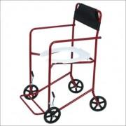 Cadeira de Rodas Higiênica Extra Vinho 40 cm - CARONE