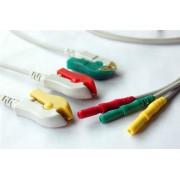 3 Vias de ECG Tipo Botão (AHA)  para BM3/BM5  Ref.152600-001900 - Bionet
