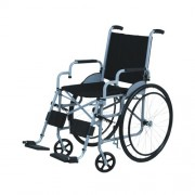 Cadeira de Rodas Lagoinha Pneu Maciço Cinza 44 cm - CARONE