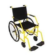 Cadeira de Rodas Taíba  Pneu Inflável 44cm Amarela - CARONE