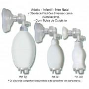 Reanimador Pulmonar Manual Tipo Ambu Recém-nascido Missouri C/ Balão Auto-Inflável em Silicone - Mikatos