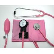 Esfigmomanômetro Aneróide PVC Rosa Com Estetoscópio Rosa Nylon/Metal - BIC