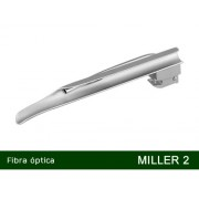 Lâmina de Laringoscópio Aço Inox Fibra Óptica Miller 2   - MD