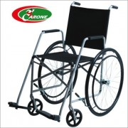 Cadeira de Rodas Taíba Pneu Maciço 44cm Branca - CARONE