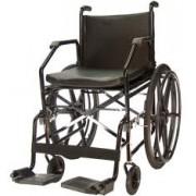 Cadeira de Rodas Aço Plus Courvim Preta 45 cm 1017  - BAXMANN E JAGUARIBE