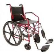 Cadeira de Rodas Aço Courvim Vinho Pneu Maciço 40 cm Ref. 1012 - BAXMANN E JAGUARIBE
